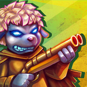 Blaze & Graze for iOS is about endless running and gunning in a hand-painted universe