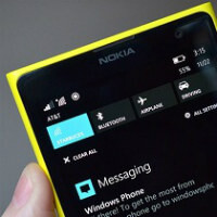 Action Center for Windows Phone 8.1 shown on video