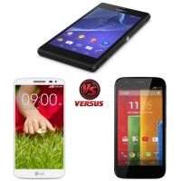 Sony Xperia M2 vs LG G2 mini vs Motorola Moto G: specs comparison