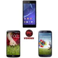 Sony Xperia Z2 vs LG G2 vs Samsung Galaxy S4: specs comparison