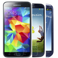 Samsung Galaxy S5 size comparison: the size evolution of the Galaxy S series