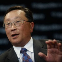 """We're the ones getting the calls from customers."" - BB CEO John Chen retaliates against another ""ditch your BlackBerry"" offer"