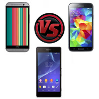 HTC One (M8) vs Samsung Galaxy S5 vs Sony Xperia Z2: specs comparison