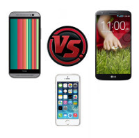 HTC One (M8) vs LG G2 vs iPhone 5s: specs comparison