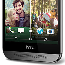 The black area with the HTC logo on the One M8 isn't just