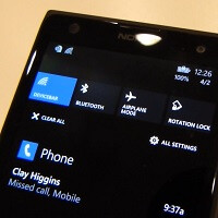Video of action center, background images, and the new calendar on Windows Phone 8.1
