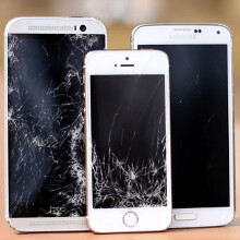 Galaxy S5 vs One (M8) vs iPhone5s drop test pays a tribute to HTC's build quality (video)