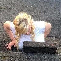 Girl gets stuck in a storm drain trying to rescue fallen BlackBerry