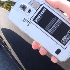 Samsung Galaxy S5 survives after being run over by a Tesla Model S