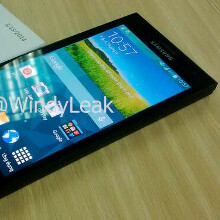 Alleged premium Samsung Galaxy F handset leaks out, enclosed in a test mule chassis