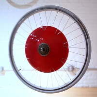 The Copenhagen Wheel connects your bicycle to your smartphone, and gives you a real boost