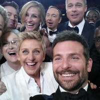"""Painting of the famous """"Ellen selfie"""" now hangs on the wall at Twitter"""