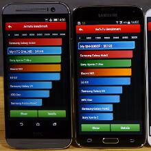 Galaxy S5 vs HTC One (M8) vs Note 3 vs LG G2 benchmark comparison (video)