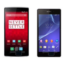 OnePlus One vs Xperia Z2 vs Galaxy S5 vs One (M8) size comparison: one affordable biggie