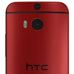 Red HTC One M8 and rugged Kyocera Brigadier (both for Verizon) pictured