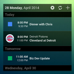 UpTo is the layered Android calendar app that can keep pace with all of your interests