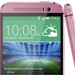 Here's the (unannounced) pink HTC One M8