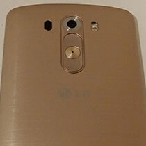 Golden LG G3 pictured, front and rear sides fully revealed