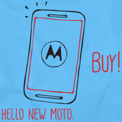 Motorola Moto E allegedly pictured next to the Moto G