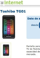 Toshiba TG01 now available in Spain through Movistar