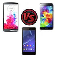 LG G3 vs Samsung Galaxy S5 vs Sony Xperia Z2: specs comparison