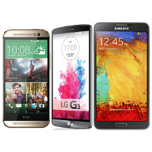 LG G3 vs HTC One (M8) vs Note 3 specs comparison: no reservations