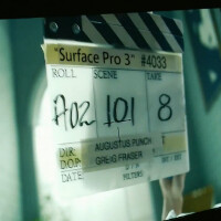 Behind the scenes at the filming of the Microsoft Surface Pro 3 ad
