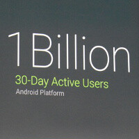 Android stats update: 1 billion 30-day users, 62% tablet market share