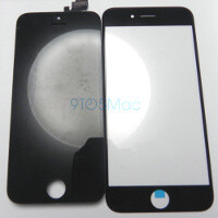 4.7-inch iPhone 6 screen glass images leak out: black and white models compared