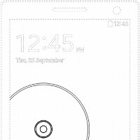 Does the image on a lock screen patent belong to the Samsung Galaxy Note 4?