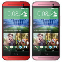 HTC One (M8) in red and pink coming to the UK