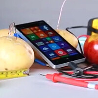 Watch the Lumia 930 get organically charged by apples and potatoes