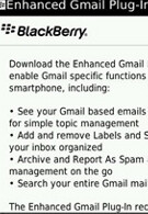 RIM working on Gmail plug-in for BlackBerry devices?