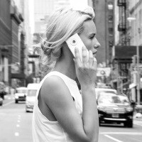 NY designers FormNation turn the iPhone into a sleek e-ink phone that nods to b&w cameras