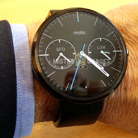 Moto 360 and its secretive charger get snapped: steel waterproof timepiece with a heart rate sensor