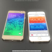 Awesome renders pit the 4.7'' iPhone 6 against the 4.7'' Samsung Galaxy Alpha