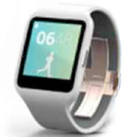 Sony SmartWatch 3 and SmartBand Talk renders appear, as clear as the Hudson River