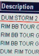 BlackBerry Storm 2 dummy phone in Verizon's system