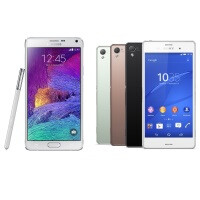Samsung Galaxy Note 4 vs Sony Xperia Z3: first look