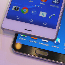 Sony Xperia Z3 vs Galaxy Note 3: first look