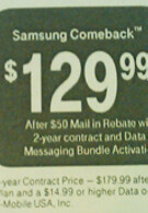 T-Mobile puts $130 price tage on Samsung Comeback?