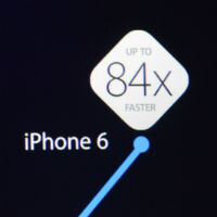 The new Apple A8 processor is up to 84x faster and has