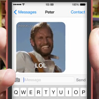 Why use words when an animated GIF will do? PopKey for iOS 8 is coming