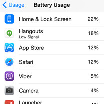 iOS 8: how to see which iPhone apps use the most battery power
