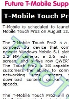 Touch Pro2 gets August 12th launch on T-Mobile and is XV6875 for Verizon?