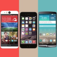 HTC Desire Eye vs Apple iPhone 6 vs LG G3: specs comparison