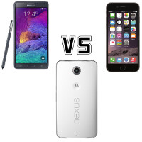 Google Nexus 6 vs Samsung Galaxy Note 4 vs Apple iPhone 6 Plus: specs comparison showdown