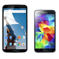 Google Nexus 6 vs Samsung Galaxy S5: in-depth specs comparison