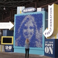 Turn your selfie into a public display of balloon art thanks to Old Navy