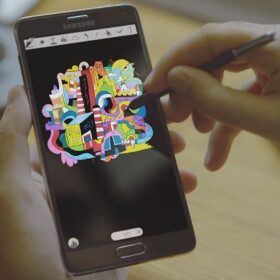 Samsung's latest videos feature real artists promoting the Galaxy Note 4